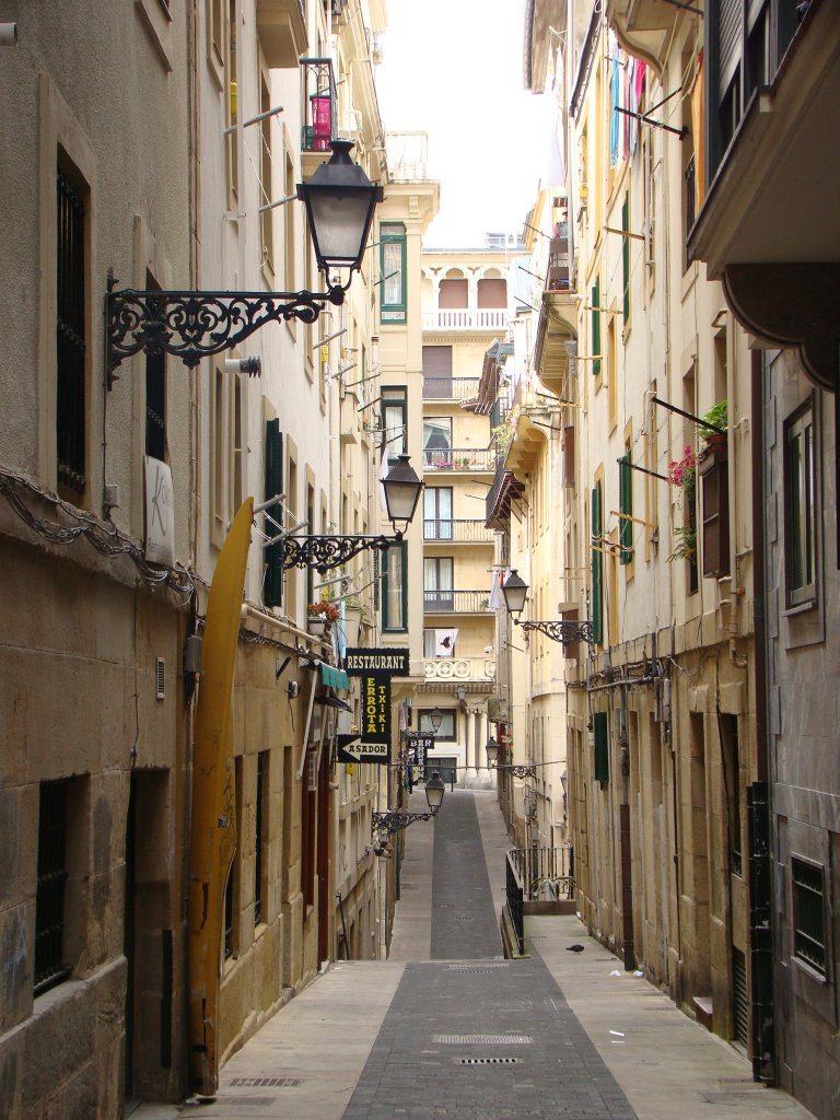 One of San Sebastian\'s narrow streets