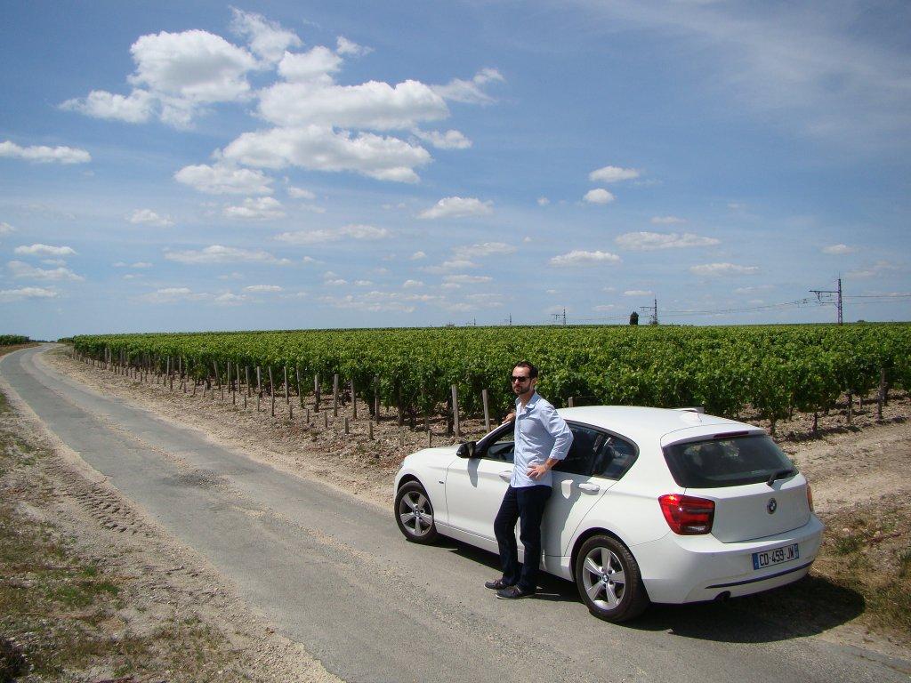 Enjoying the beautiful wine country