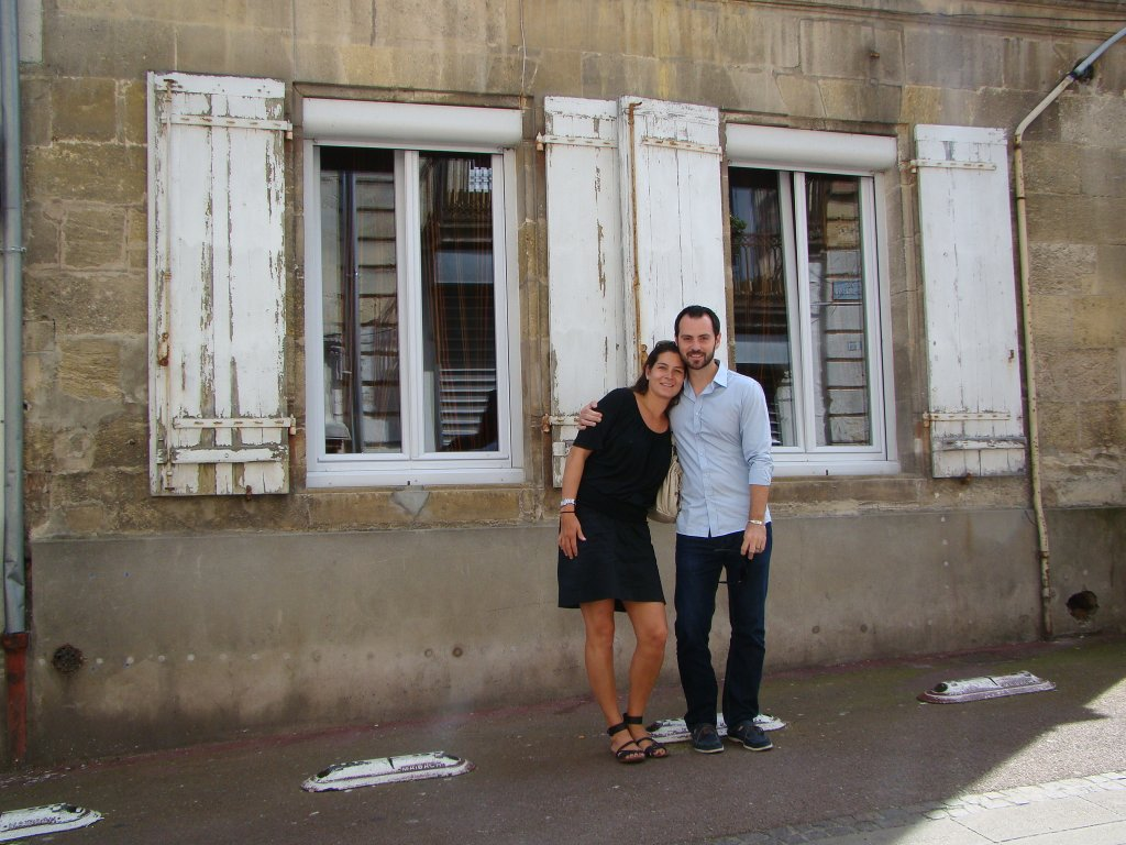 A photo opp in the town of Pauillac
