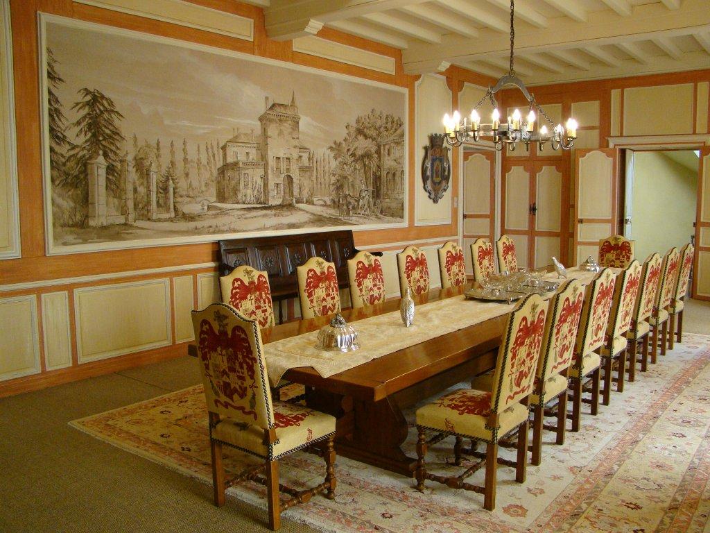 Inside the actual 17th century chateau (Latour Carnet)