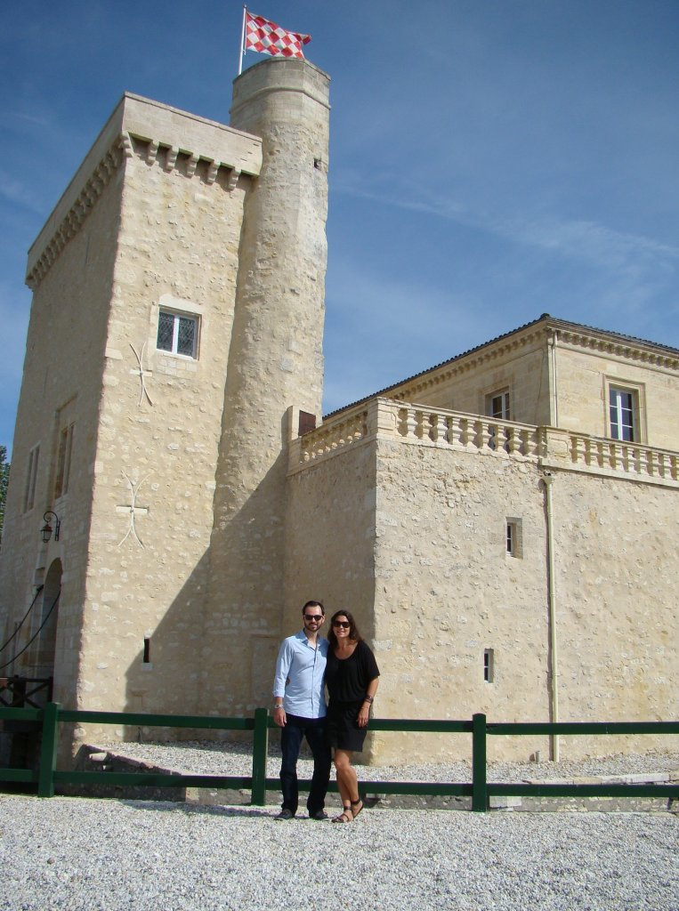 The tower behind us dates to the 12th Century with its original moat