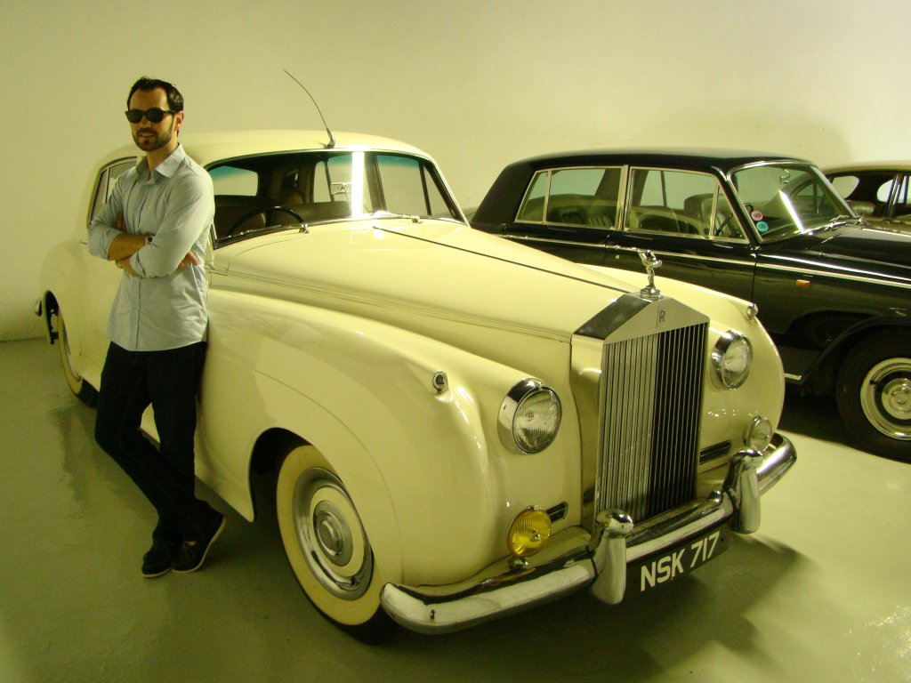 Part of Bernanrd Magrez\'s vintage car collection at Chateau Latour Carnet (he owns about 40 chateaux in France)