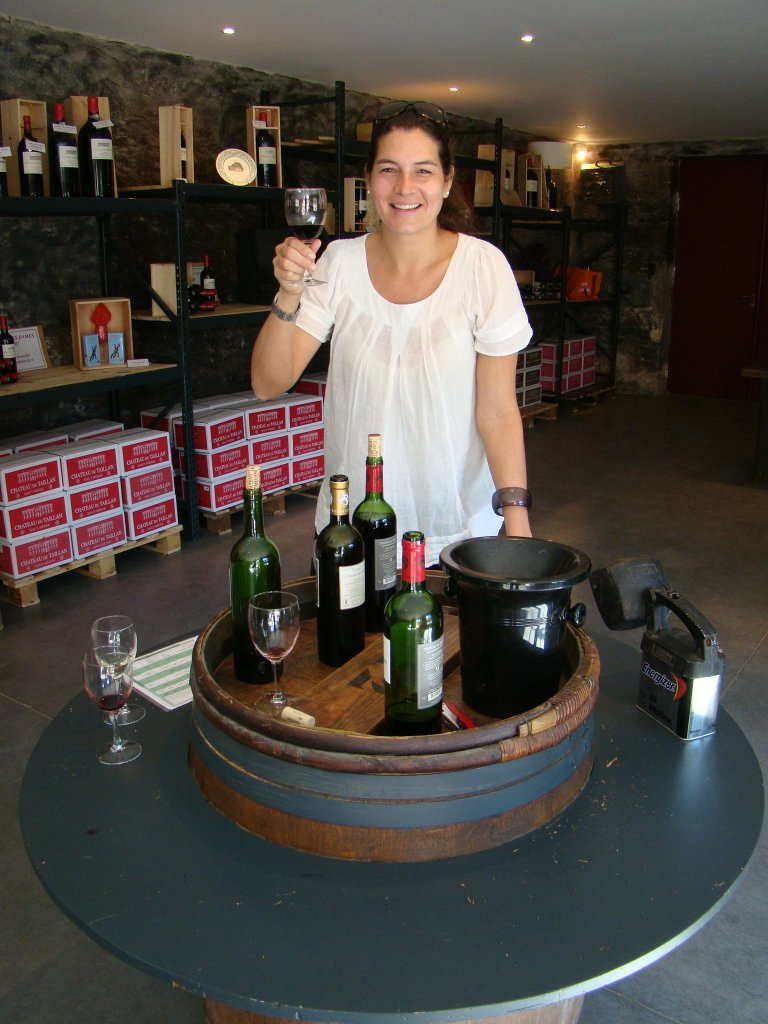 Tasting at Chateau Taillan