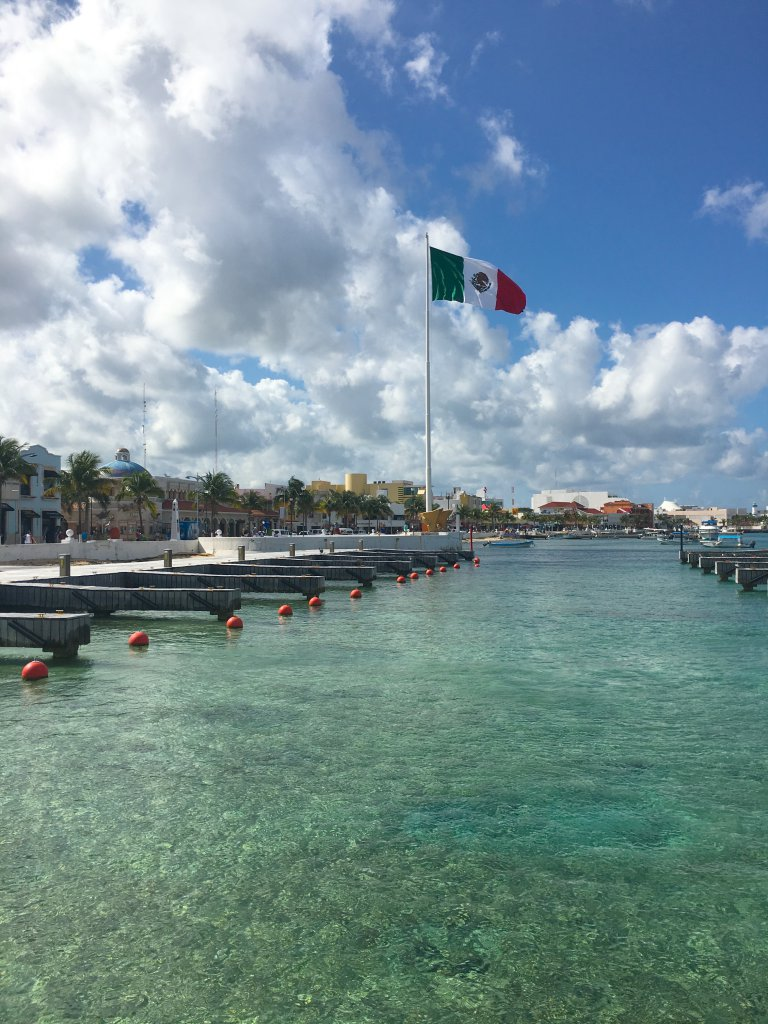 Arriving on Cozumel Island