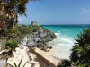 This ruin site is the only Maya settlement located on the beaches of the Caribbean (notice the iguana on bottom right)