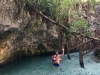 This part of the cenote was great for kids - shallow water