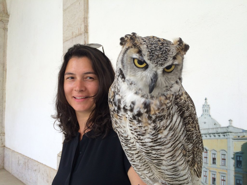 North American Girl & North American Owl (Mafra Palace)
