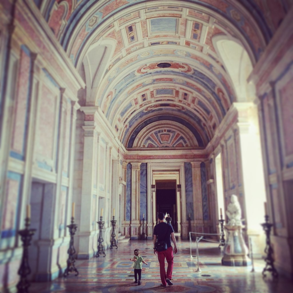 Hall at Mafra Palace (Instagram shot)