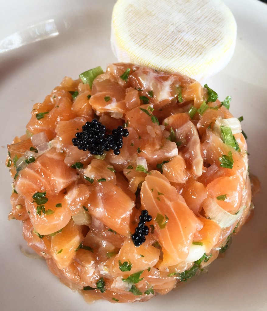 Amazing salmon Tartar Friar's Bay Beach Club