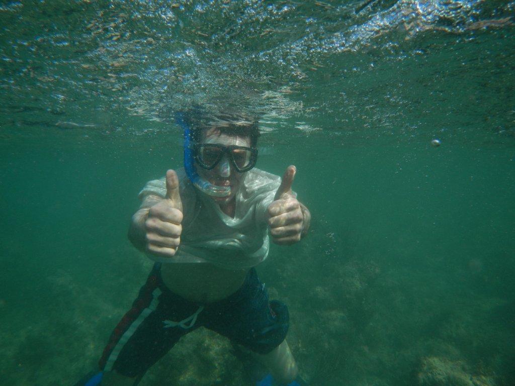 Jason under water