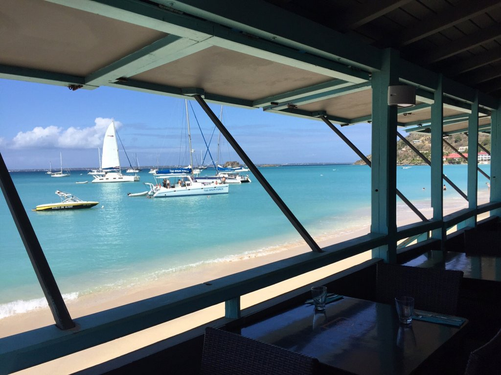 View from a Grand Case restaurant