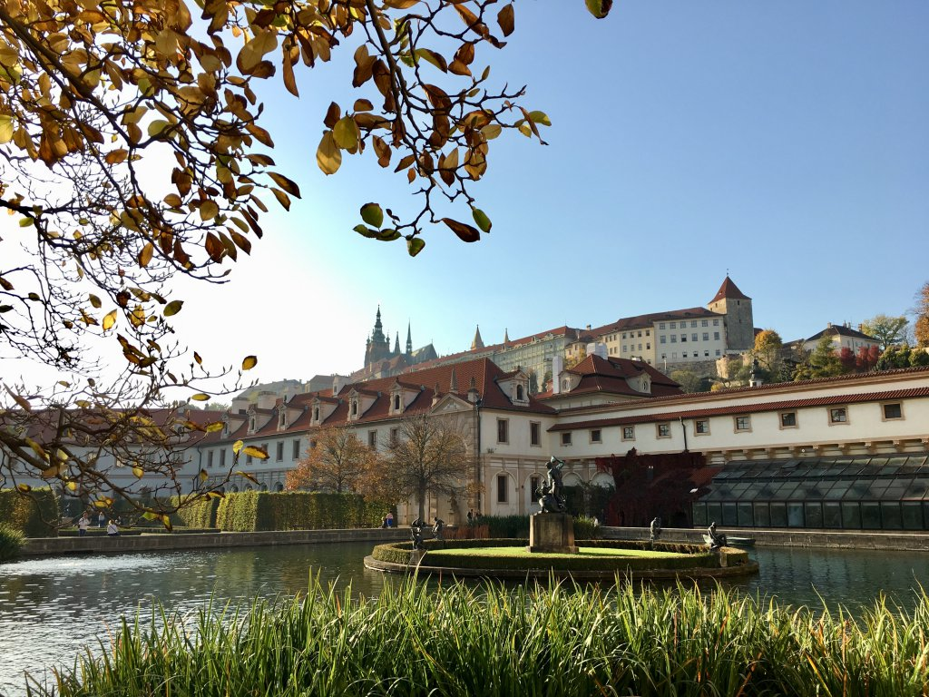 Prague Castle in background