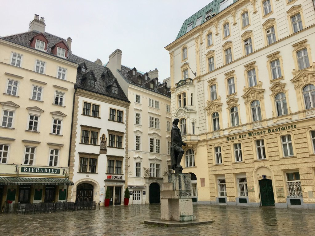 Judenplatz - historic center for Jewish life in Vienna during the Middle Ages