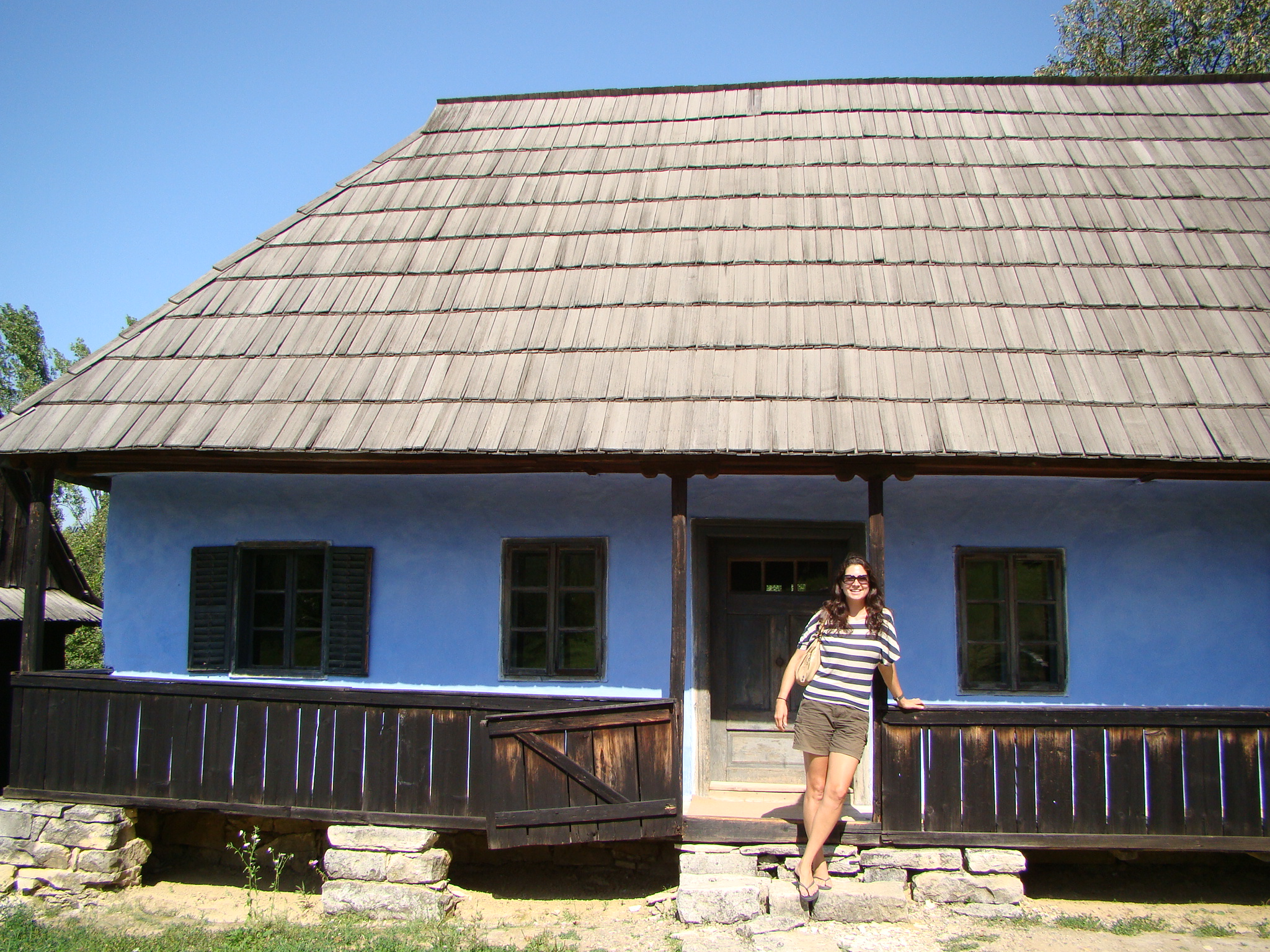 Checking out one of the typical peasant homes from the last century love the blue a b journey - Romanian peasant houses ...