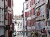 Typical street in Bayonne - beautiful wooden window shutter