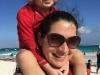 O & mama at Playa Paraiso
