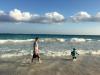 J & J in the sea