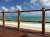 View of Caribbean Sea from beach club