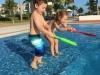 Kids splashing at Jason
