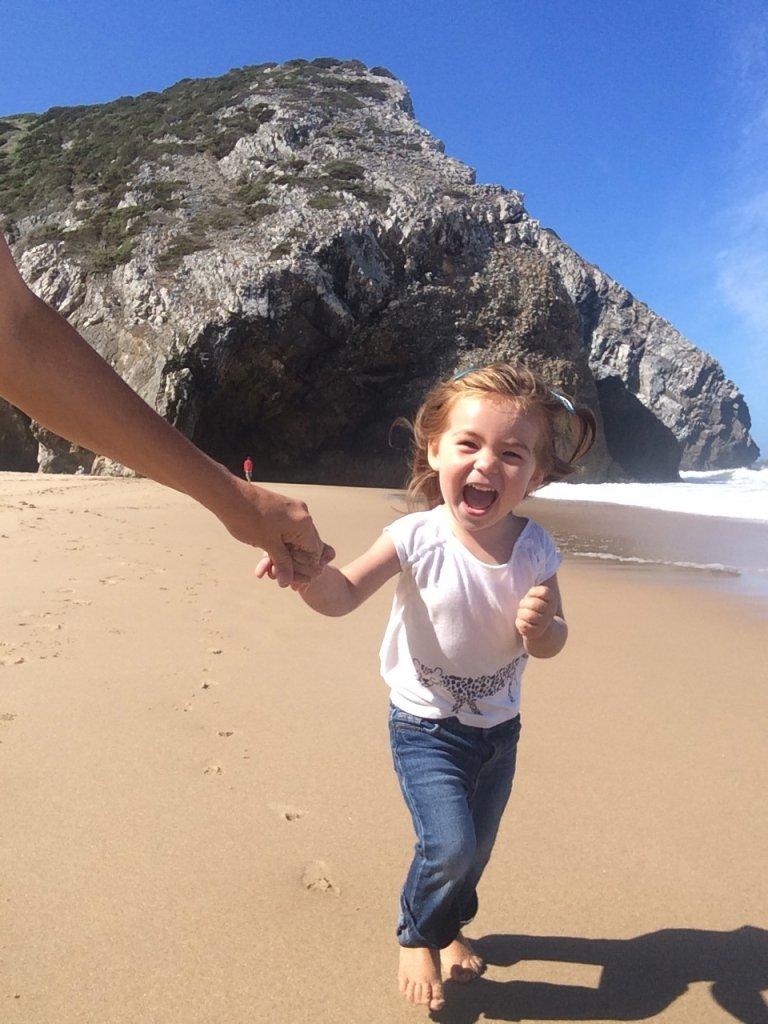 Happy Run on Beach