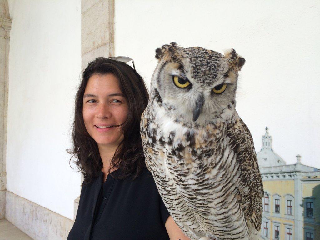 North American Girl & North American Owl (Mafra Palace)