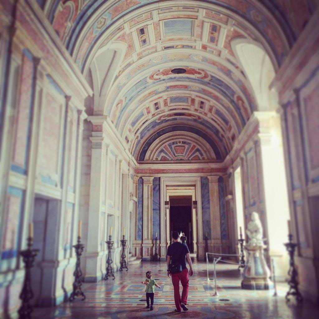Hall at Mafra Palace (Instagram shot)