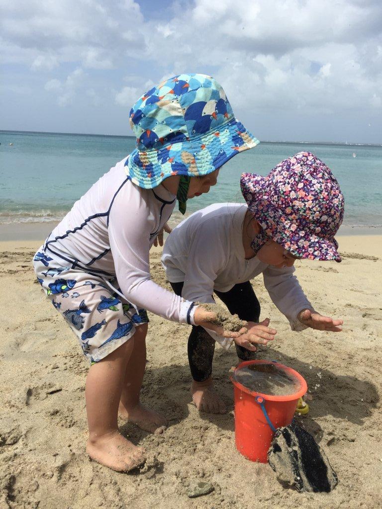 Let's build a sand castle here!
