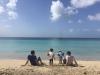 The kids and their papas at Friar's Bay Beach