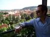 View of Prague from Czech Republic\'s oldest vineyard